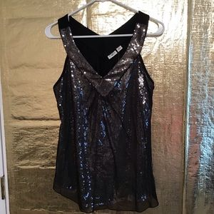 Sequined dressy top